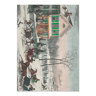 Poesía del invierno de la CAMISETA Invitación 12,7 X 17,8 Cm