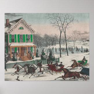 Poesía del invierno de la CAMISETA Poster