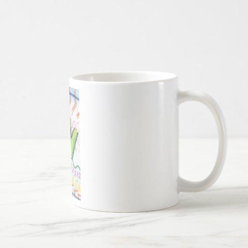 Poesía del modelo tazas de café