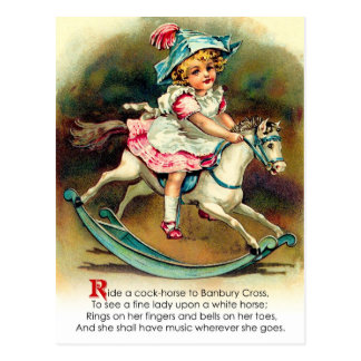 Poesía infantil cruzada de Banbury Tarjetas Postales