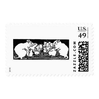 Poesía infantil de giro de los ratones sello