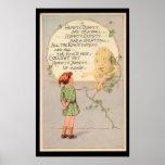 Poesía infantil de Humpty Dumpty Póster