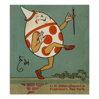 Poesía infantil de la mamá ganso del vintage, póster