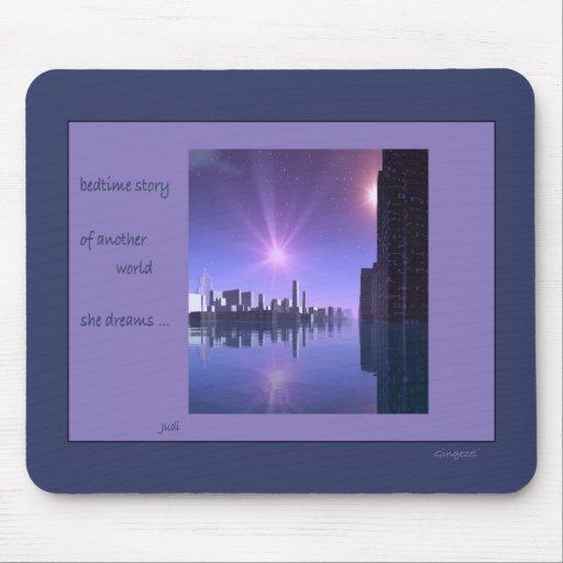Poesía Mousepad de Haiga del mundo del agua Alfombrilla De Raton