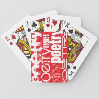 Poesía; Rayas del rojo del escarlata Cartas De Póquer