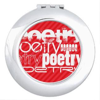 Poesía; Rayas del rojo del escarlata Espejo Maquillaje