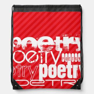 Poesía; Rayas del rojo del escarlata Mochilas