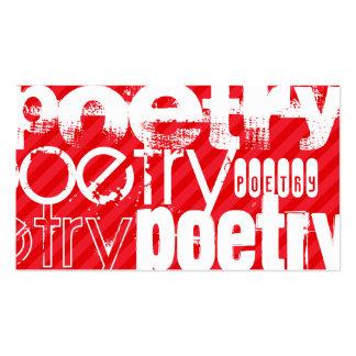 Poesía; Rayas del rojo del escarlata Tarjetas De Visita
