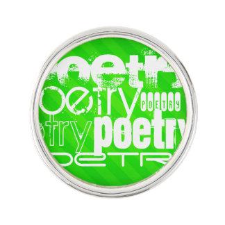 Poesía; Rayas verdes de neón Insignia