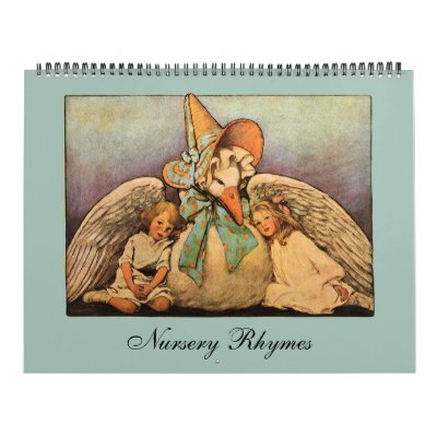 Poesías infantiles 2014 del vintage; Mamá ganso Calendarios