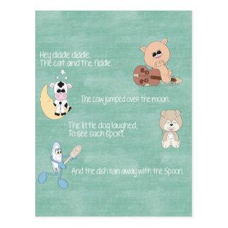Poesías infantiles hermosas del bebé tarjetas postales