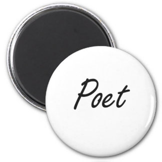 Poet Artistic Job Design 2 Inch Round Magnet