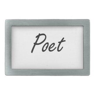 Poet Artistic Job Design Belt Buckles