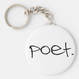 Poet Basic Round Button Keychain