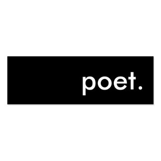 poet. business cards