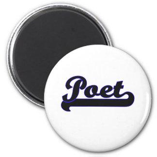 Poet Classic Job Design 2 Inch Round Magnet