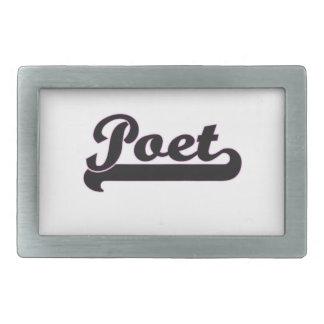 Poet Classic Job Design Rectangular Belt Buckles