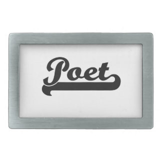 Poet Classic Job Design Rectangular Belt Buckle