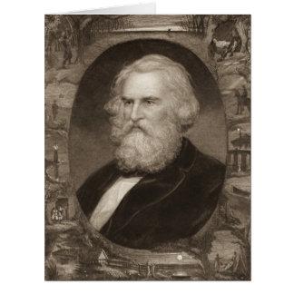Poet Henry Longfellow 1881 Card