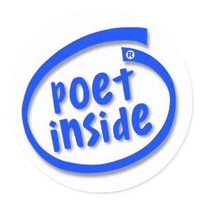 Poet Inside Classic Round Sticker