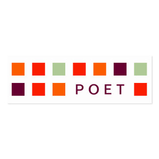 POET (mod squares) Business Card Template