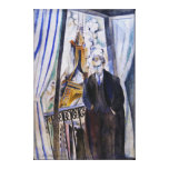 Poet Philip Soupault by Robert Delaunay Stretched Canvas Print