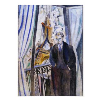 Poet Philip Soupault by Robert Delaunay Card