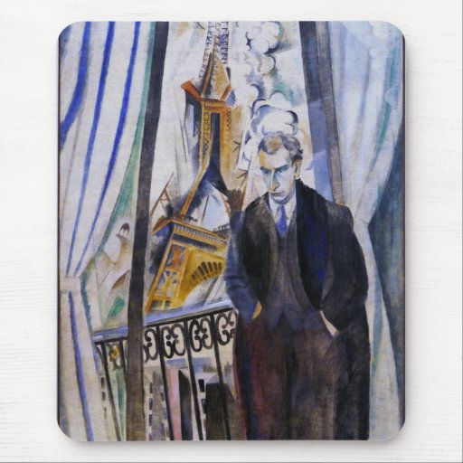 Poet Philip Soupault by Robert Delaunay Mouse Pads