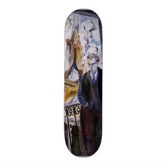 Poet Philip Soupault by Robert Delaunay Skateboard