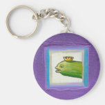 Poet pickle? eel? king? attitude fun painting art basic round button keychain