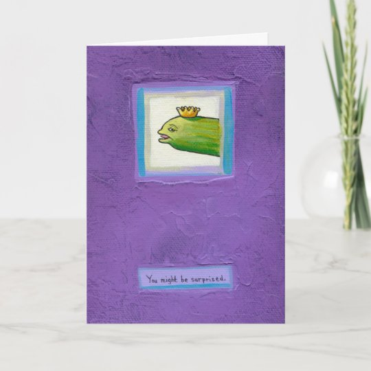 Poet Pickle Eel King Fun Weird Birthday Card Art