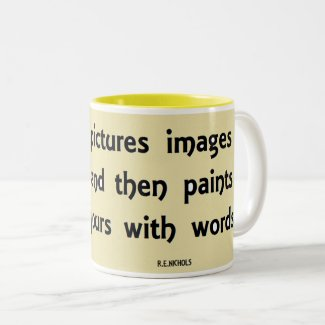 Poet Pictures Two-Tone Coffee Mug