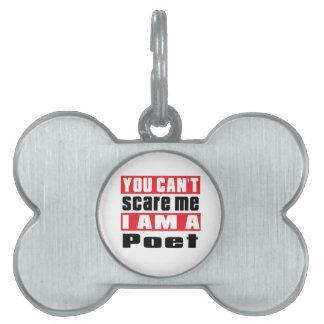 Poet scare designs pet ID tag