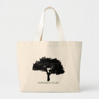 Poet-Tree Canvass Large Tote Bag