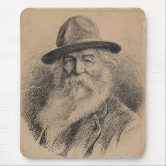 Poet Walt Whitman Portrait by Valerian Gribayedoff Mouse Pad