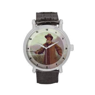 Poeta Apollon Nikolaevich Maikov de Ivan Kramskoy- Reloj