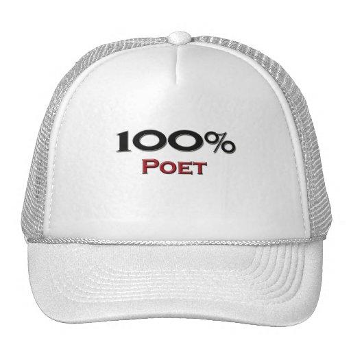 Poeta del 100 por ciento gorro