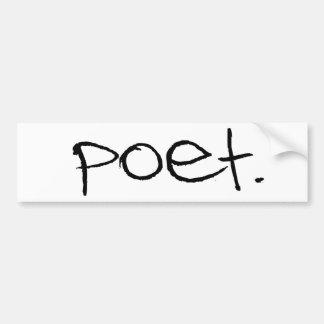 Poeta Etiqueta De Parachoque