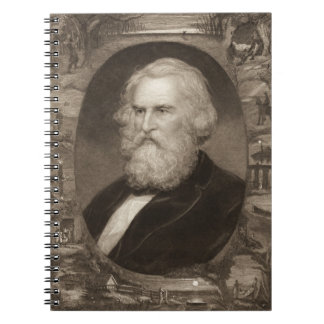 Poeta Henry Longfellow 1881 Libro De Apuntes Con Espiral