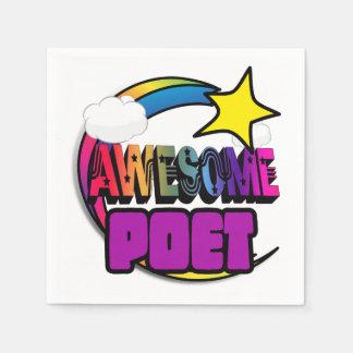 Poeta impresionante del arco iris de la estrella servilleta de papel