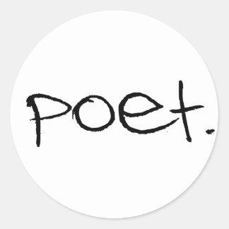 Poeta Pegatina Redonda