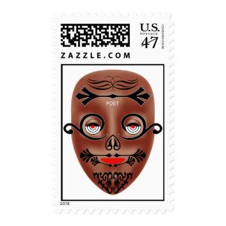 poeta sello postal