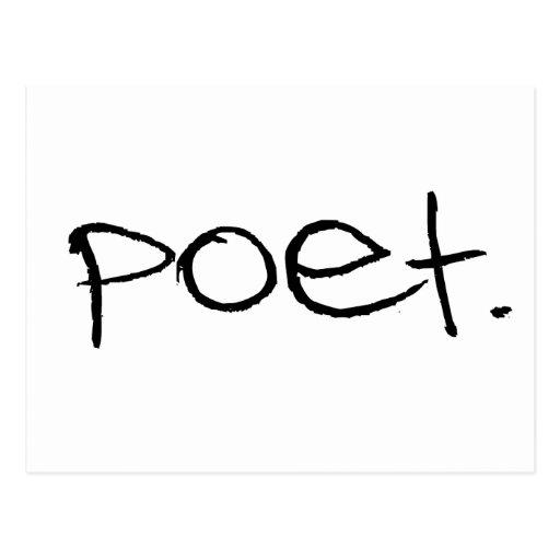 Poeta Tarjeta Postal