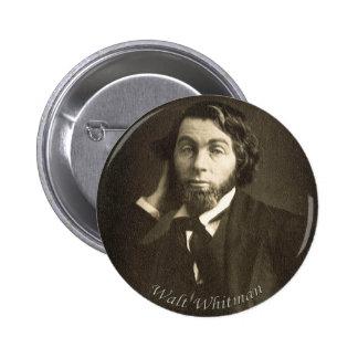 Poeta Walt Whitman en New Orleans Pin Redondo De 2 Pulgadas
