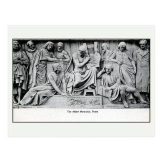 Poetas sección monumento Londres del vintage de A Tarjetas Postales