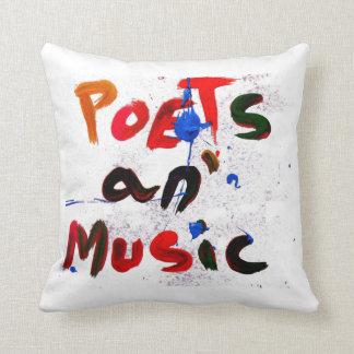 poetas y música cojín decorativo