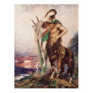 Poete Mort Porte par un Centaure Postcard