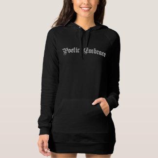 Poetic Embrace Dark Hoodie Dress
