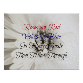 Poetic Fitness Flower! Posters