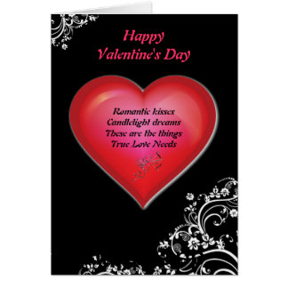 Poetic Hearts Valentine's Day Card